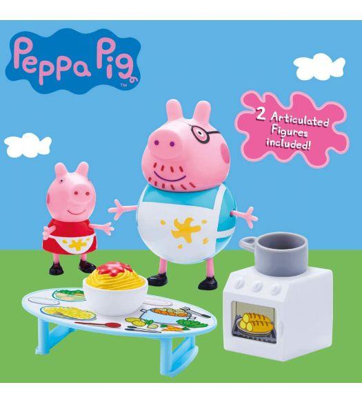 Peppa Pig Messy Kitchen Playset Incl 2 Figures Papa Pig Peppa Pig