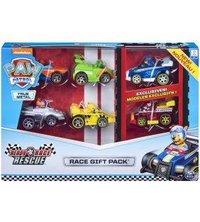 PAW PATROL True Metal Ready Race Rescue Gift Pack of 6 Racer